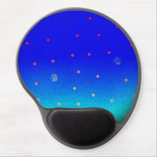 Suizo punteado azul alfombrilla de raton con gel