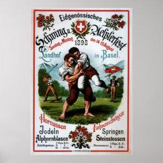 Suizo que lucha el festival alpino ~R. Schweizer 1 Impresiones