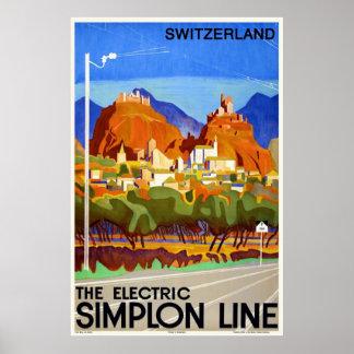 Suizo Sion Valais del poster del viaje del art