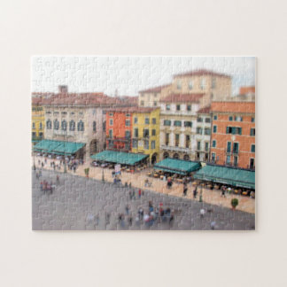 Sujetador de la plaza del café - Verona, Italia - Puzzles