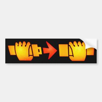 Sujete a la pegatina para el parachoques de la mue pegatina para auto