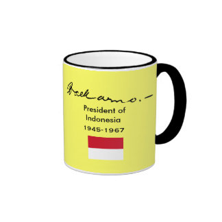 Sukarno* Portrait Cup Ringer Coffee Mug