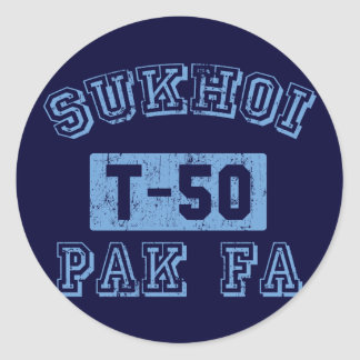 Sukhoi PAK FA - BLUE Classic Round Sticker