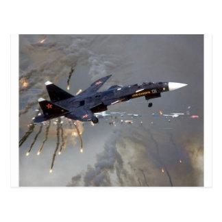 "SUKHOI RUSO SU-27 ""FLANKER "" TARJETAS POSTALES"