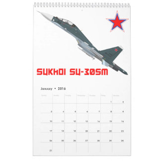 Sukhoi Su-30SM Flanker-C Russian Air Force Calendar