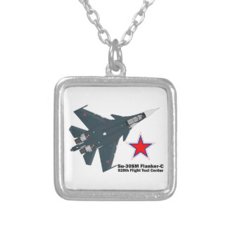 Sukhoi Su-30SM Flanker-C VKS Silver Plated Necklace