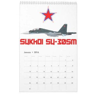 Sukhoi Su-30SM Russian Air Force VKS Calendar