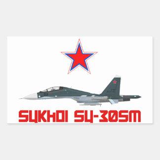 Sukhoi Su-30SM Russian Air Force VKS Rectangular Sticker