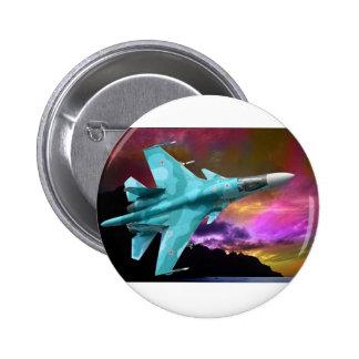 Sukhoi Su-47 (S-37) Berkut Supersonic Jet Fighter Buttons