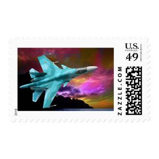Sukhoi Su-47 (S-37) Berkut Supersonic Jet Fighter Stamp