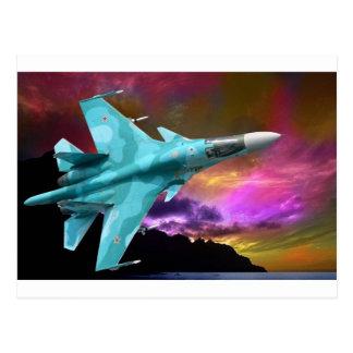 Sukhoi Su-47 (S-37) Berkut Supersonic Jet Fighter Postcard