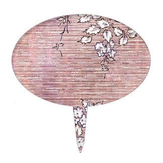 """""""Suki"""" Vintage Wallpaper- Pink Cake Topper"""