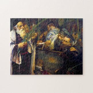 SUKKOT by Leopold Pilichowski - 1895 Jigsaw Puzzle