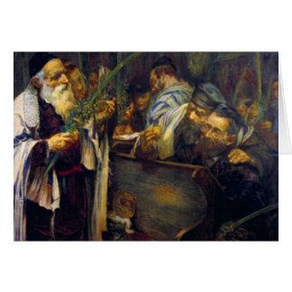 SUKKOT de Leopold Pilichowski - 1895 Tarjeta De Felicitación