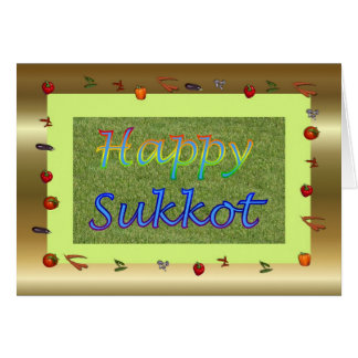 Sukkot Jewish Feast of Tabernacles Feast of Booths Card