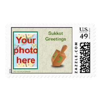 Sukkot Jewish holiday custom photo add photo Stamp