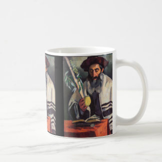 Sukkot - Painting by Paula Gans - Signed 1920 Classic White Coffee Mug