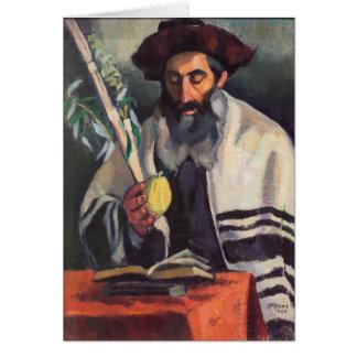 Sukkot - Painting by Paula Gans - Signed 1920 Greeting Card