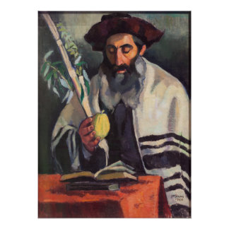 Sukkot - Painting by Paula Gans - Signed 1920 Poster
