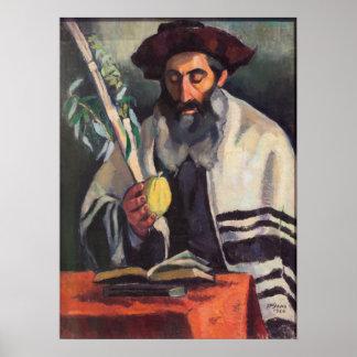 Sukkot - pintura de Paula Gans - firmado 1920 Póster