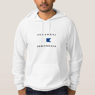 Sulawesi Indonesia Alpha Dive Flag Hooded Pullover