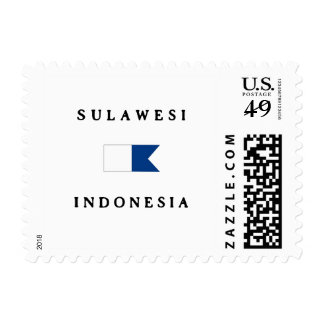 Sulawesi Indonesia Alpha Dive Flag Postage Stamps