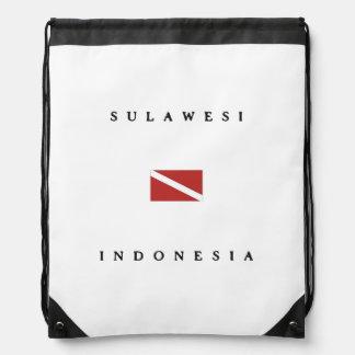 Sulawesi Indonesia Scuba Dive Flag Drawstring Backpack