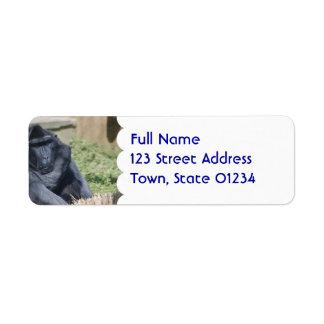Sulawesi Macaque Custom Return Address Labels