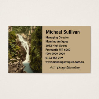 Sulby Glen Upper Falls, Ramsey, Isle of Man Business Card