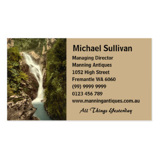 Sulby Glen Upper Falls, Ramsey, Isle of Man Double-Sided Standard Business Cards (Pack Of 100)