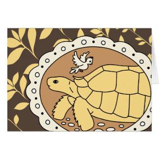Sulcata Tortoise Card (brown oval)