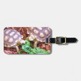 Sulcata Tortoise Hatchlings Travel Bag Tags