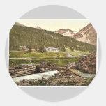 Sulden Hotel, Sulden, Tyrol, Austro-Hungary rare P Round Stickers