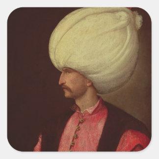 Suleiman II Pegatinas Cuadradases Personalizadas