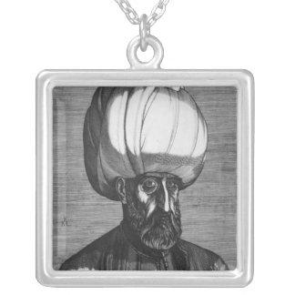 Suleiman the Magnificent Square Pendant Necklace