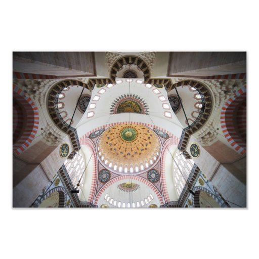 Suleymaniye Mosque Ceiling in Istanbul Photo Print