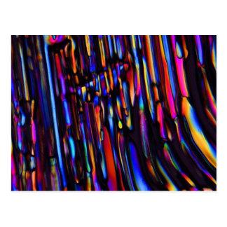 sulfato de cinc debajo del microscopio tarjeta postal