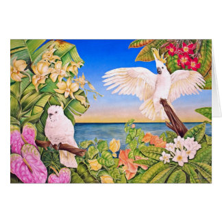 Sulfer-crested Cockatoos Card