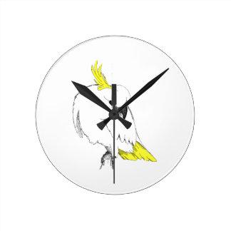 Sulfer Cuckatoo Round Clock