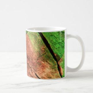 Sulfur crystals under a microscope coffee mug