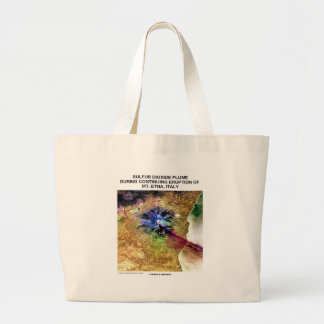 Sulfur Dioxide Plume Eruption Mt. Etna Italy Tote Bags