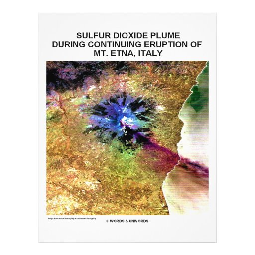 Sulfur Dioxide Plume Eruption Mt. Etna Italy Flyer