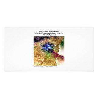 Sulfur Dioxide Plume Eruption Mt. Etna Italy Photo Card Template