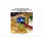 Sulfur Dioxide Plume Eruption Mt. Etna Italy Postcard