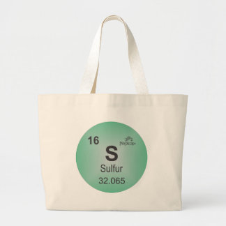 Sulfur Individual Element of the Periodic Table Large Tote Bag
