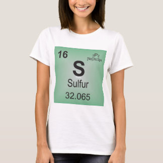 Sulfur Individual Element of the Periodic Table T-Shirt