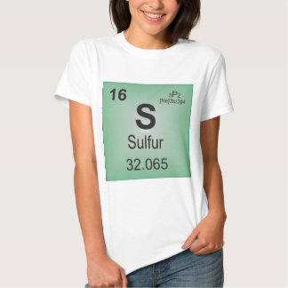 Sulfur Individual Element of the Periodic Table Tee Shirt