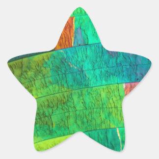 Sulfur under the microscope star sticker