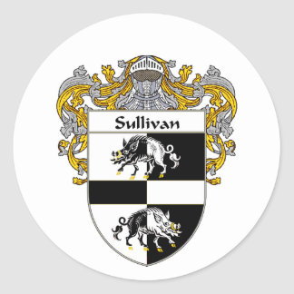 Sulivan Coat of Arms (Mantled) Stickers