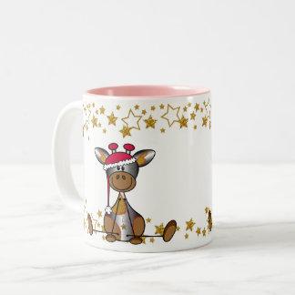 Sulk Christmas hopped and festively with lief Two-Tone Coffee Mug